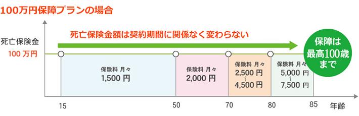 年齢ごとの毎月の保険料図