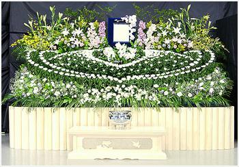 自宅葬・寺院葬 会員価格80万円(生花祭壇)プランPHOTO