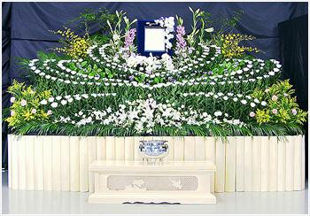 自宅葬・寺院葬 会員価格65万円(生花祭壇)プランPHOTO